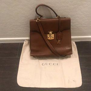 Gucci Vintage Kelly Top Handle Shoulder Bag